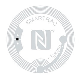 Smartrac NTAG BullEye sticker tag.